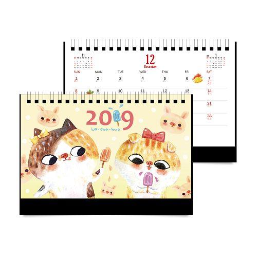 2019 拉查花小桌曆-小豬姐妹花