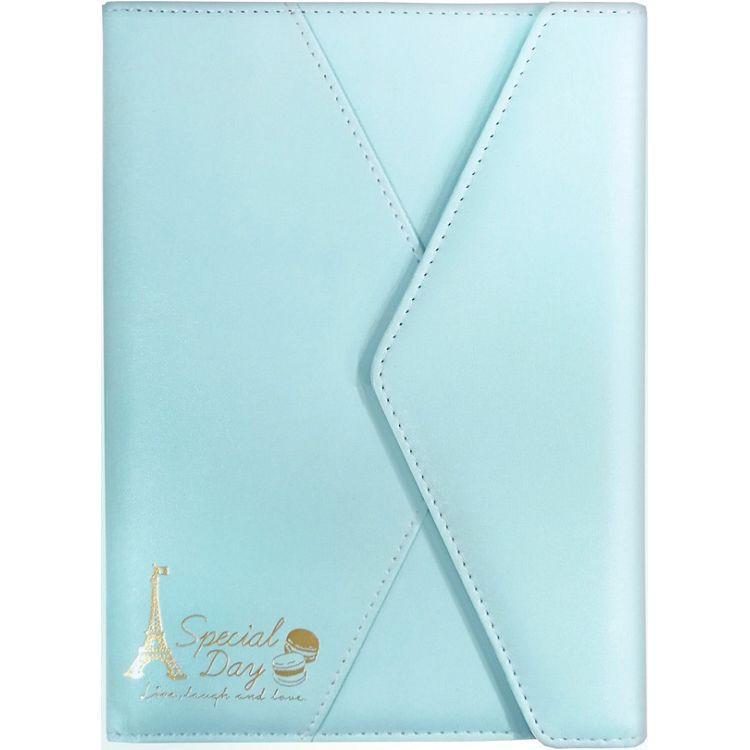 【四季紙品禮品】馬卡龍皮革手記32K-藍方格