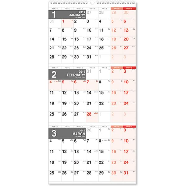 【珠友】2019 吊掛3月式月曆