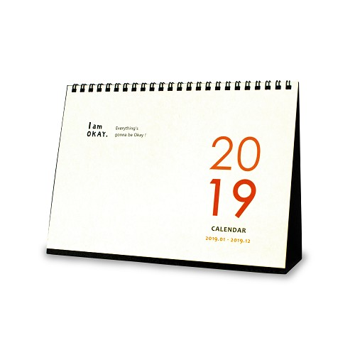 【柏格文具】2019雙色事務型桌曆 大