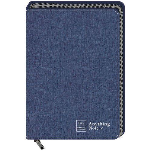 拉鍊萬用手冊25K-框字藍