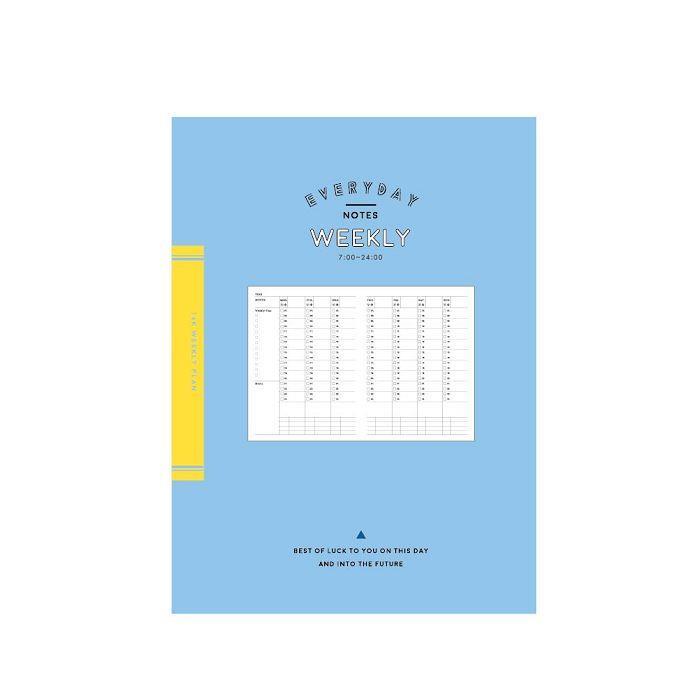 簡單生活-16k自填式週計畫定頁-藍