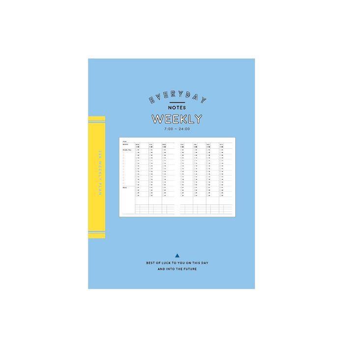 簡單生活-25k自填式週計畫定頁筆記-藍