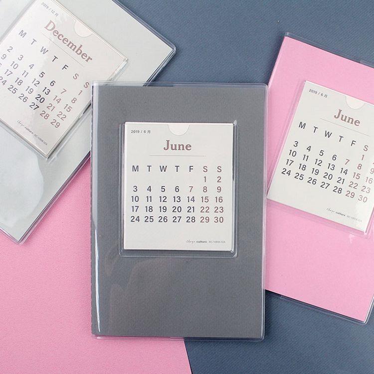 2020跨年日誌B6素面月計劃筆記-粉紅