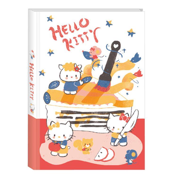 三麗鷗布質手札-KITTY-插畫