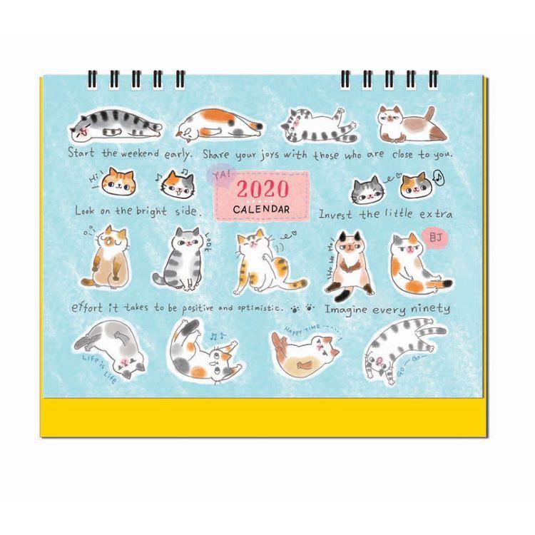 2020年O-CAT桌曆-排排坐
