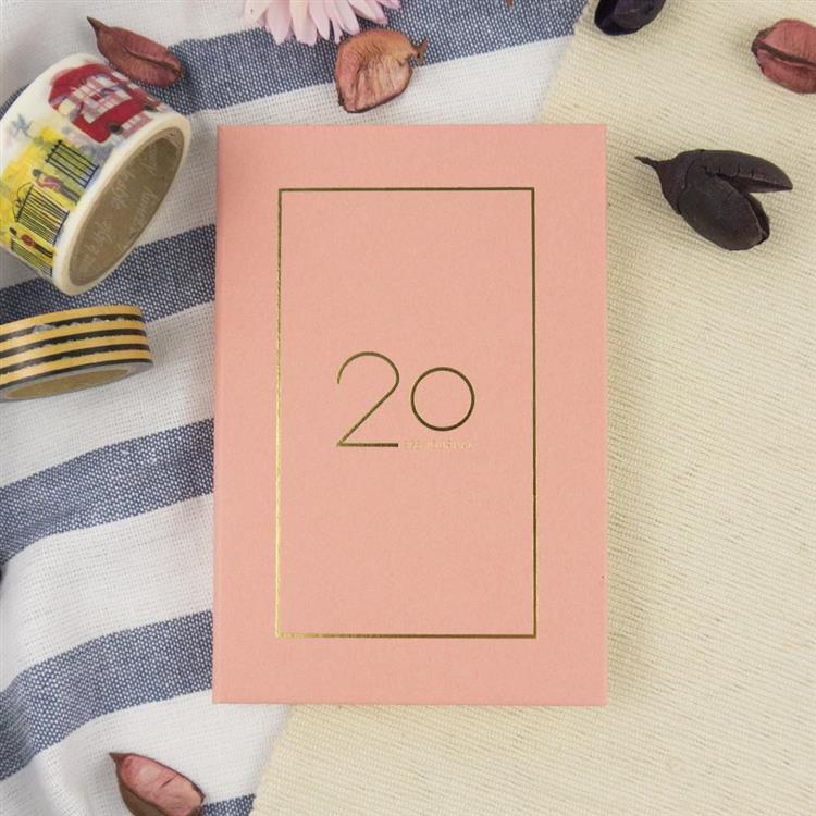 2020年25K奢樸軟背精裝橫式週誌-朵粉