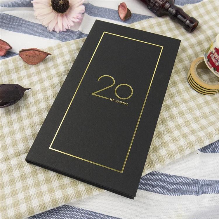 2020年40K奢樸軟背精裝橫式週誌-夜黑