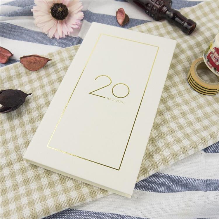 2020年40K奢樸軟背精裝橫式週誌-曙白
