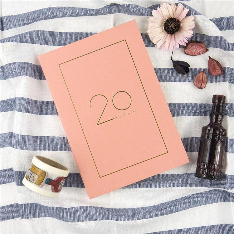 2020年50K奢樸軟背精裝橫式週誌-朵粉