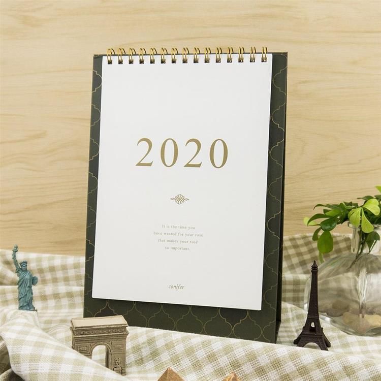 2020年32K時間絮語直式桌曆-相思墨綠