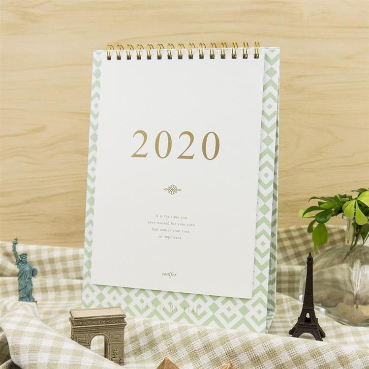 2020年32K時間絮語直式桌曆-晨曲霧綠