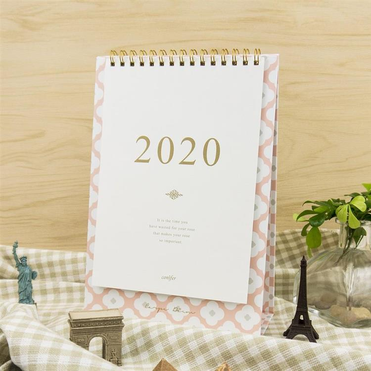 2020年32K時間絮語直式桌曆-依戀粉紅