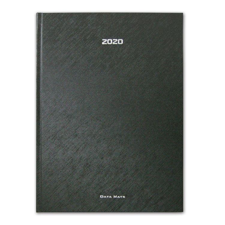 2020年【DATA MATE】珠光斜織 16k 皮製精裝本DM-1668-黑