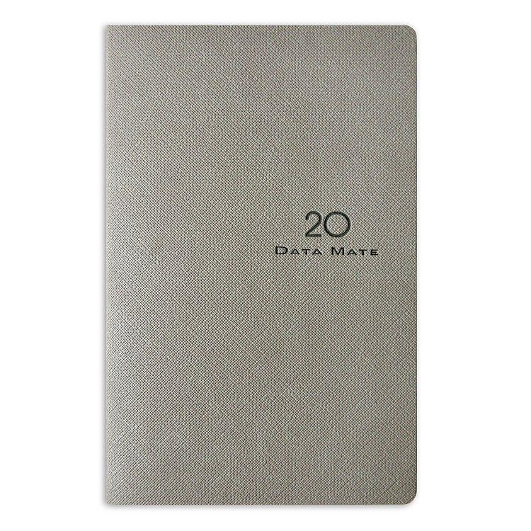 2020年【DATA MATE】歐風雅品 90k 皮製精裝本DM-9065-淺灰