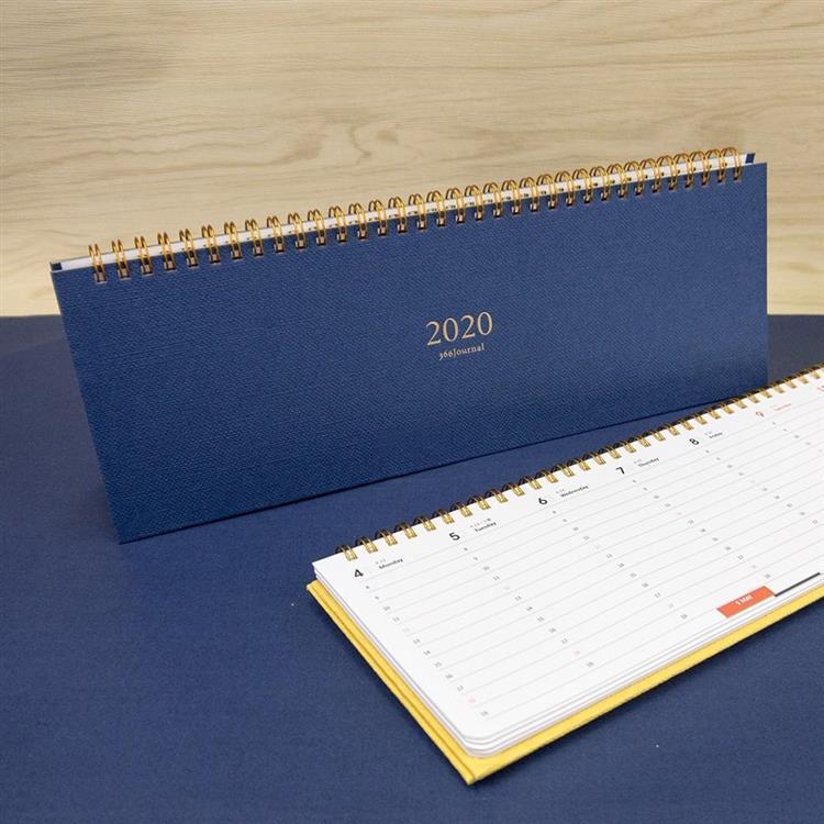 2020年時間線桌曆-軍藍