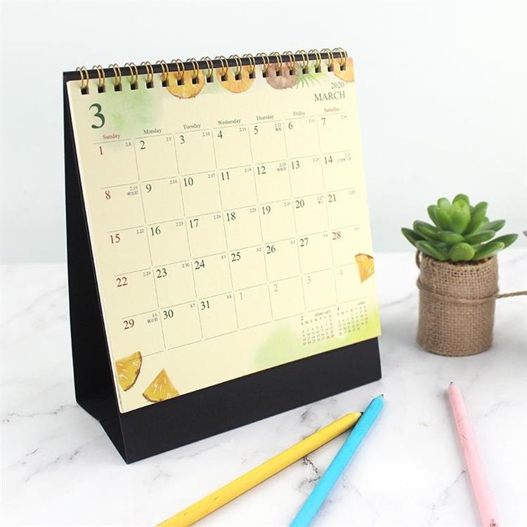 2020年插畫三角月曆 /桌曆