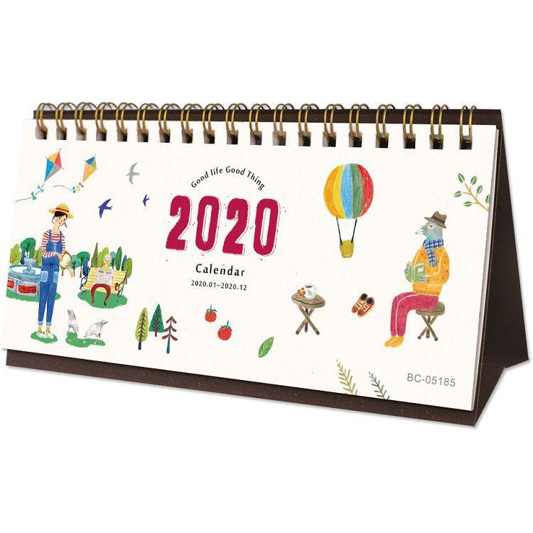 2020年54K插畫三角月曆 /桌曆