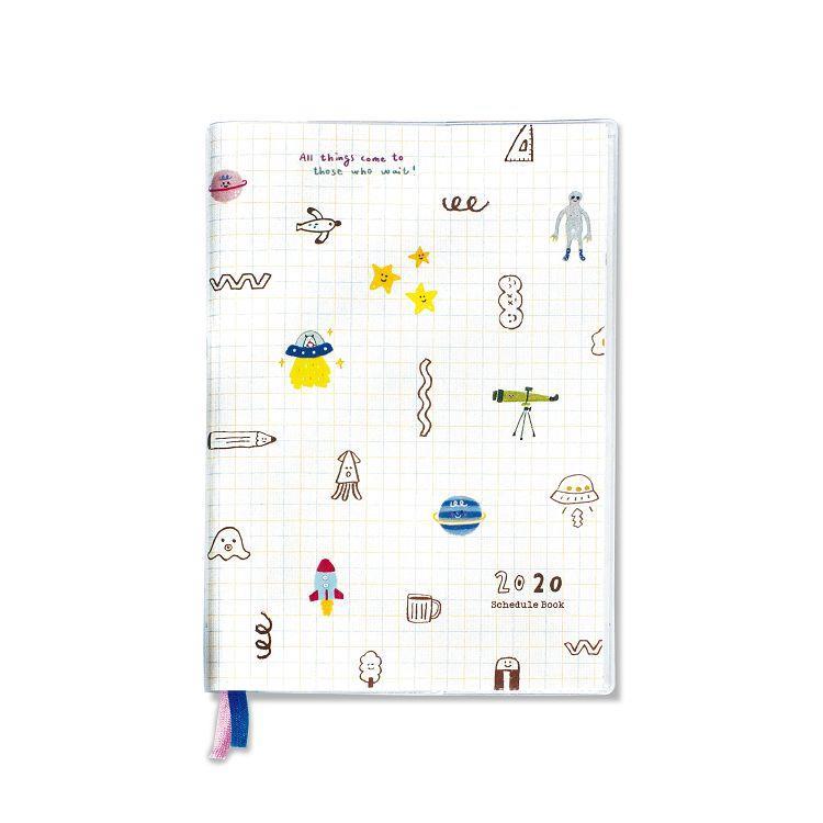 【柏格文具】2020年32K年度膠皮手冊-外星人