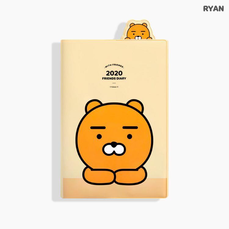 2020年[kakao friends]32K書籤週誌-RYAN