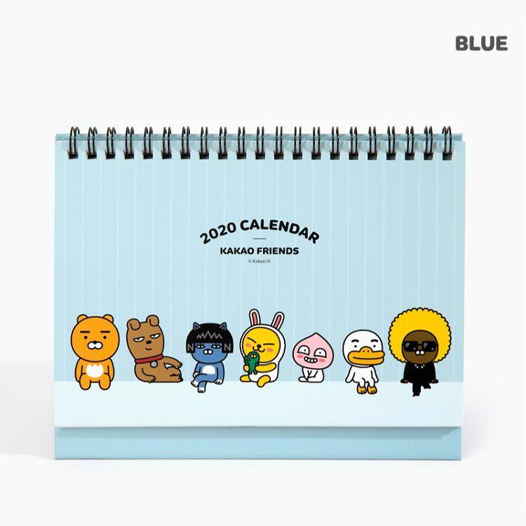 2020年[kakao friends]自填式桌曆(粉藍)