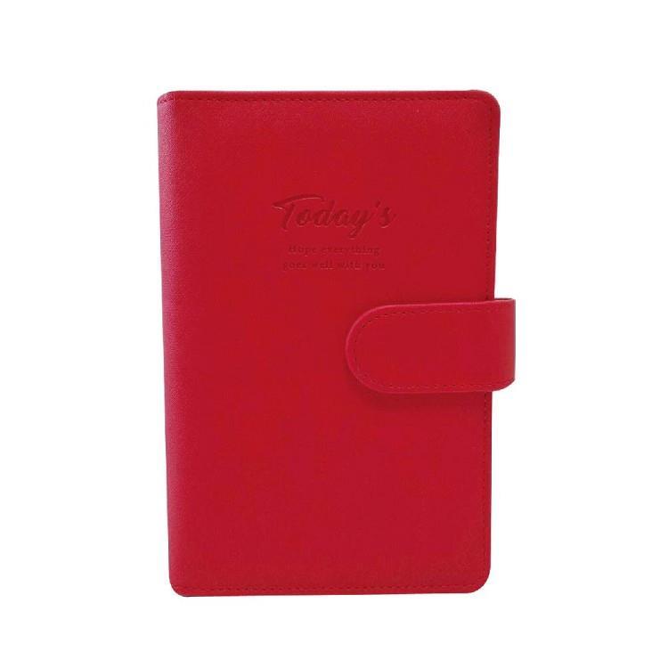 簡單生活-48K典雅壓紋萬用手冊-紅