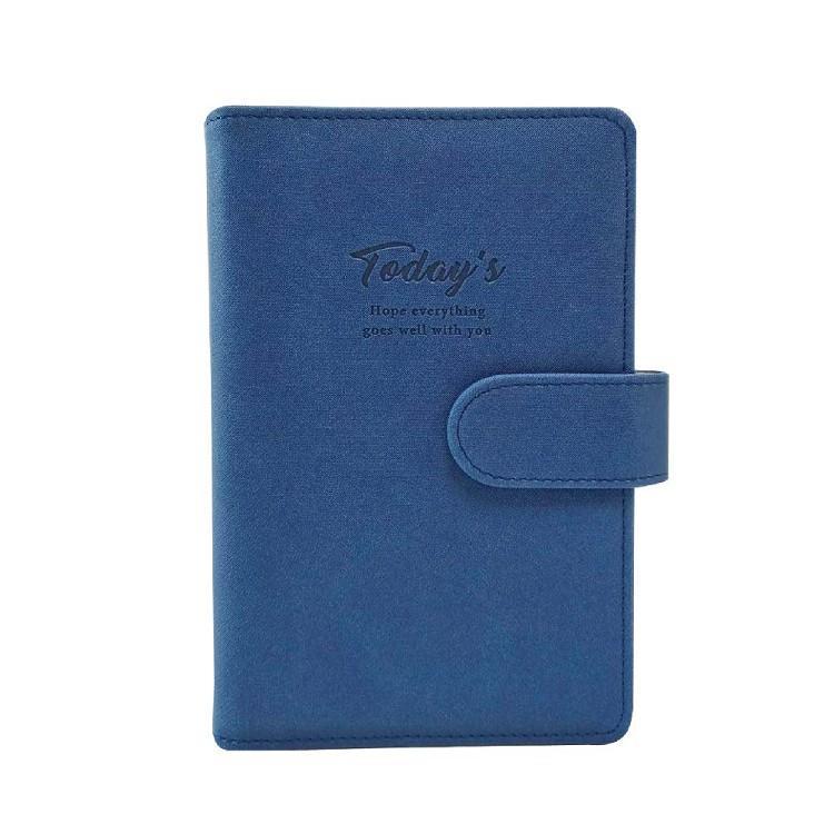 簡單生活-48K典雅壓紋萬用手冊-紺藍