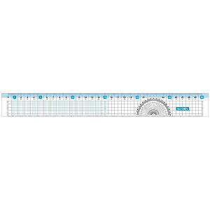 【四季紙品禮品】三合一功能尺30公分-藍
