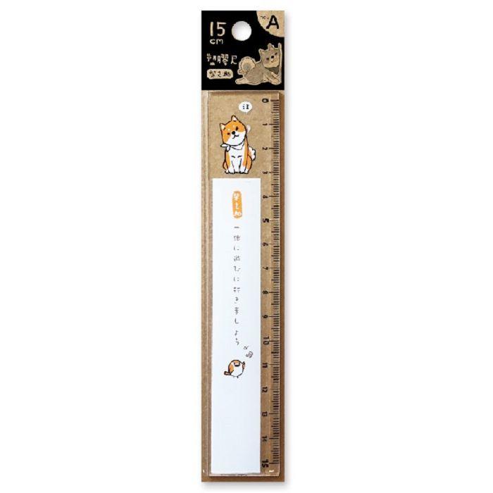 【三瑩】柴之助15cm塑膠尺-白