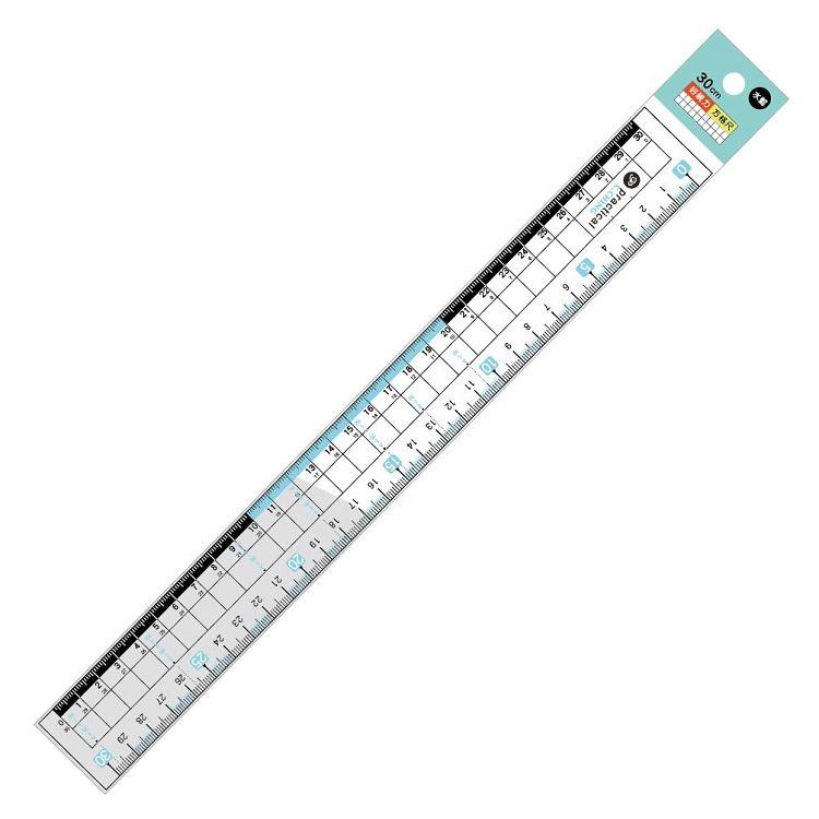 【青青】choice-30cm專業好視力方格尺-水藍