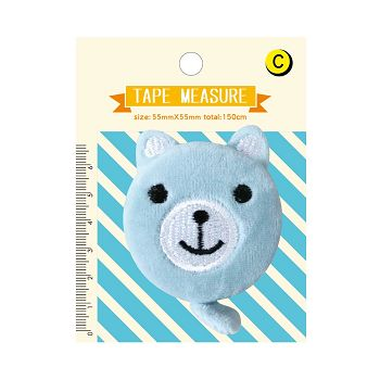 【青青】Mini Q-絨毛迷你捲尺-藍熊熊