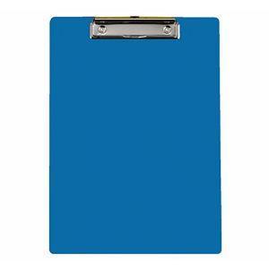 力大66105彩色塑膠板夾 藍