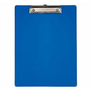力大66107彩色透明板夾 直式 藍