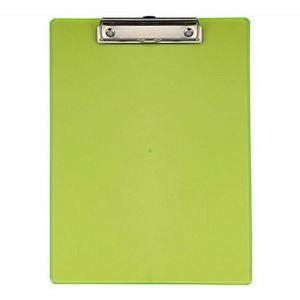 力大66107彩色透明板夾 直式 綠