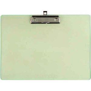 力大66189彩色板夾A4橫式(刻度) 綠