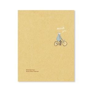 【柏格文具】旅人-牛皮精裝20孔夾 腳踏車