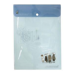 【柏格文具】旅人-直式PP文件袋/藍