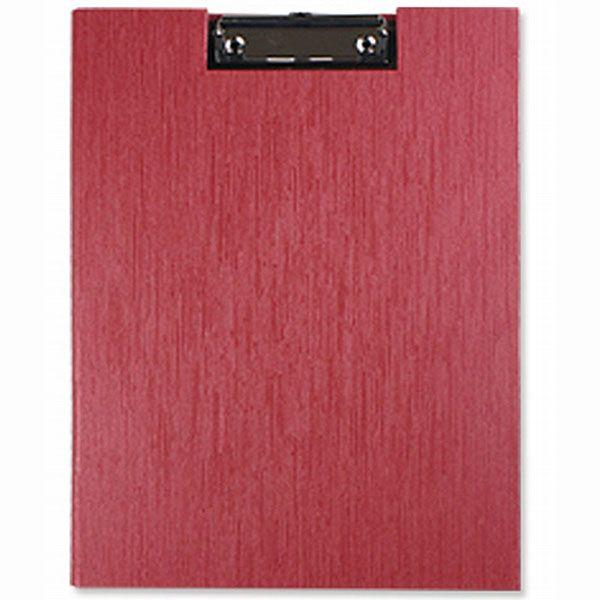 【珠友】A4/13K掛勾式丹麥夾-水波紋E紅
