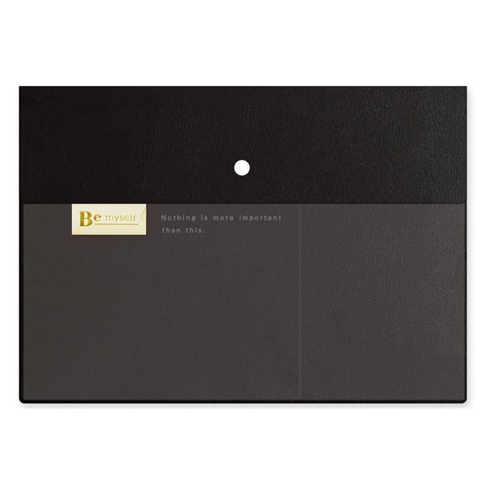 【九達】Bemyself A4雙層文件收納袋-黑