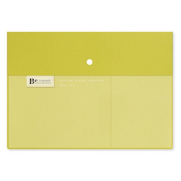 【九達】Bemyself A4雙層文件收納袋-綠