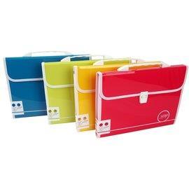Databank LOOP手提A4 13層風琴夾-紅