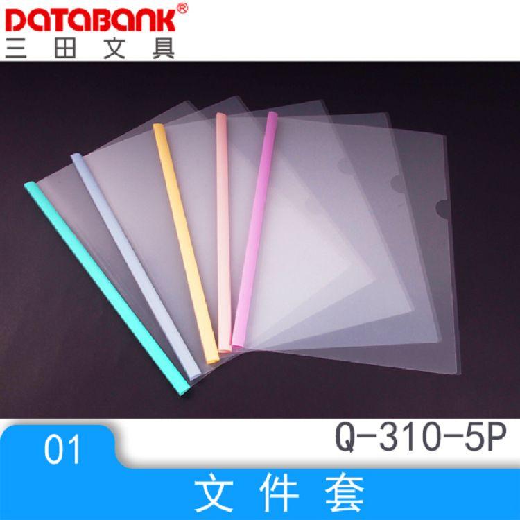Databank 標準Q310粉彩附桿文件套5入(厚0.16) (特價品)
