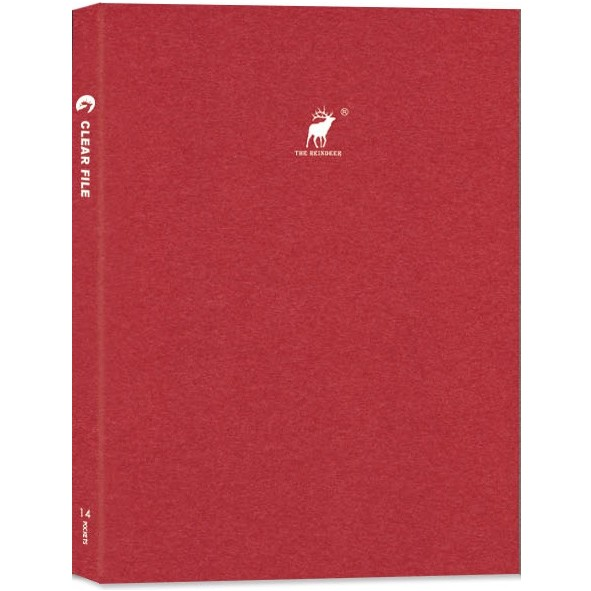 【珠友】A4輕便文件夾/14頁-Reindeer-B紅