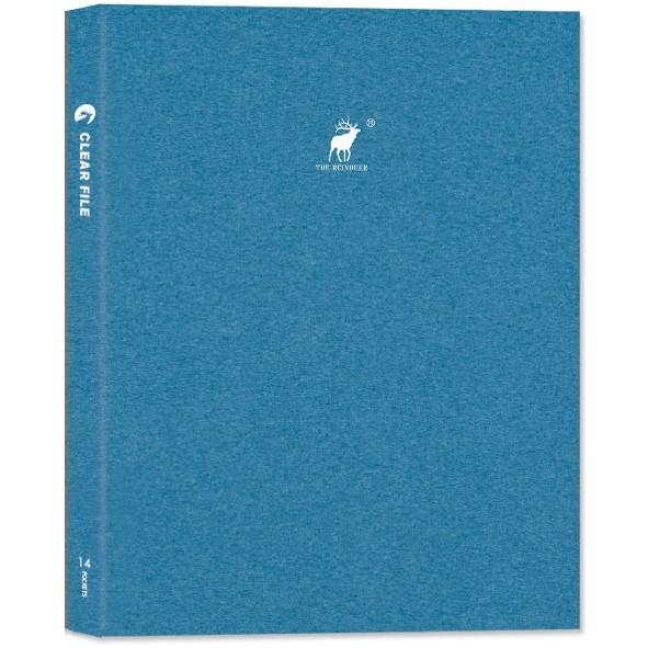【珠友】A4輕便文件夾/14頁-Reindeer-D藍