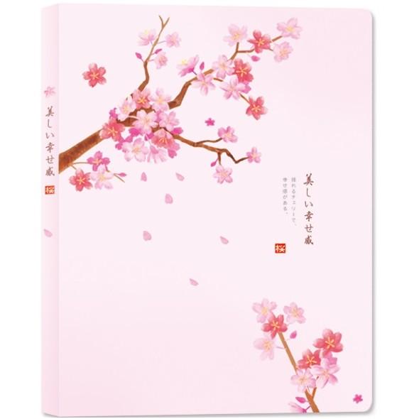 【珠友】A4資料本春之櫻內袋加厚40入-B粉紅