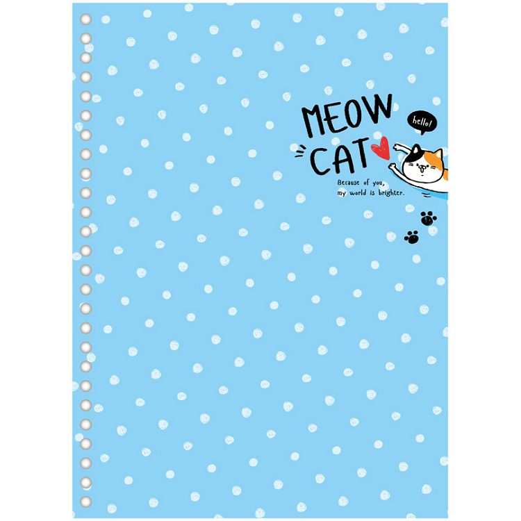 【四季紙品禮品】26孔B5封面板-點貓