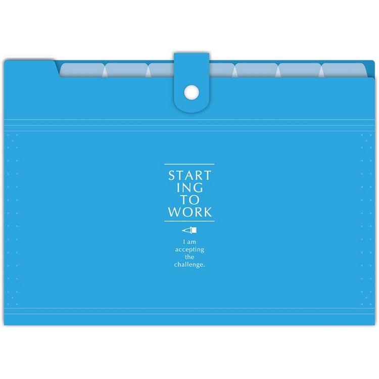 【四季紙品禮品】8層鏡面風琴夾-藍