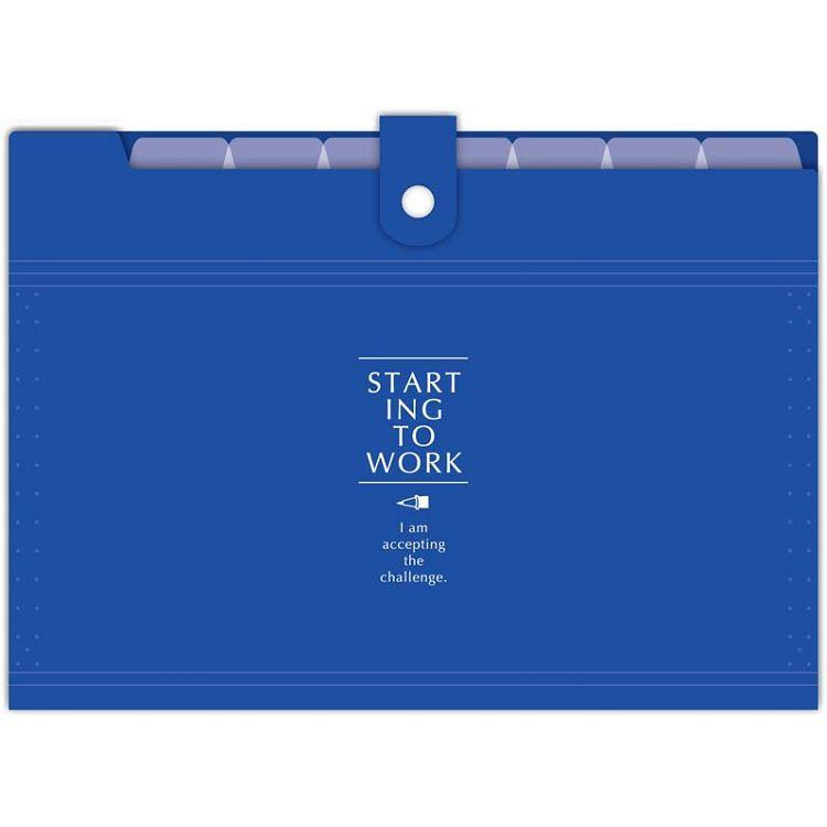 【四季紙品禮品】8層鏡面風琴夾-深藍