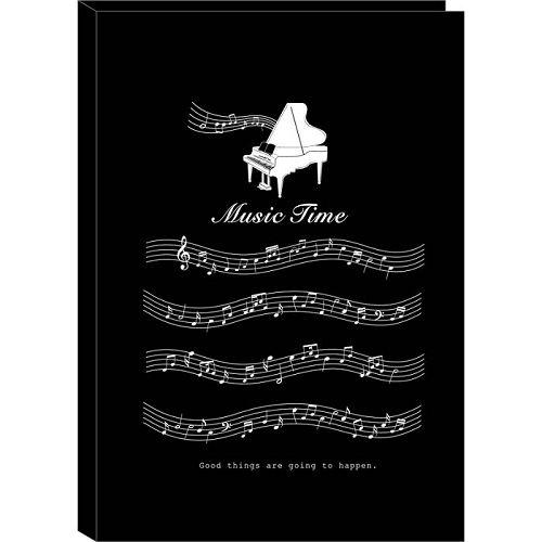 【四季紙品禮品】A4不反光六頁樂譜夾-黑琴