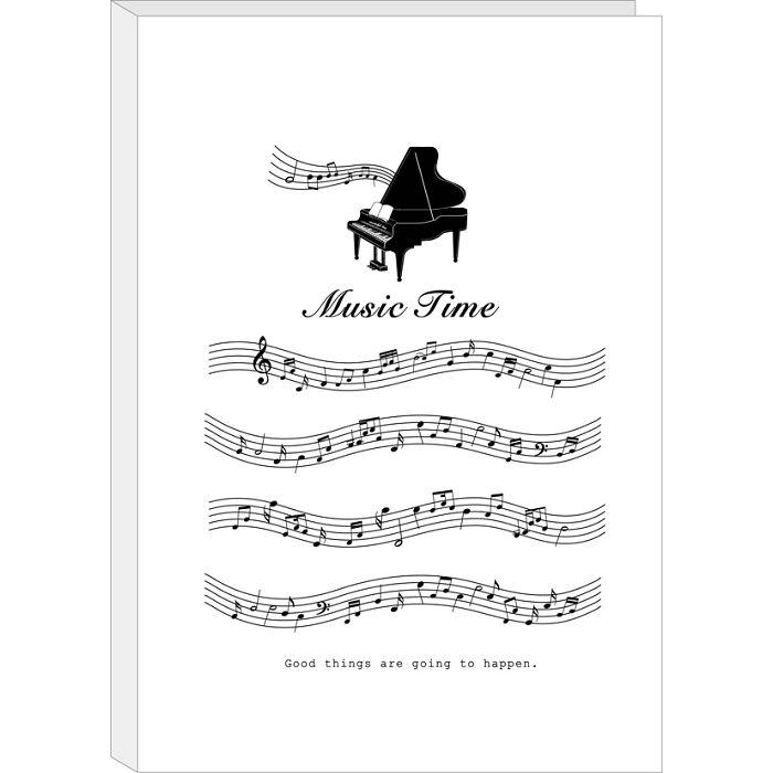 【四季紙品禮品】A4不反光六頁樂譜夾-白琴